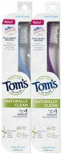 #Tom's of Maine Naturally Clean Toothbrush Medium From the #1 natural oral care ...  #clean #maine #medium #natural #naturally #toothbrush #ImportanceOfOralHealthCare