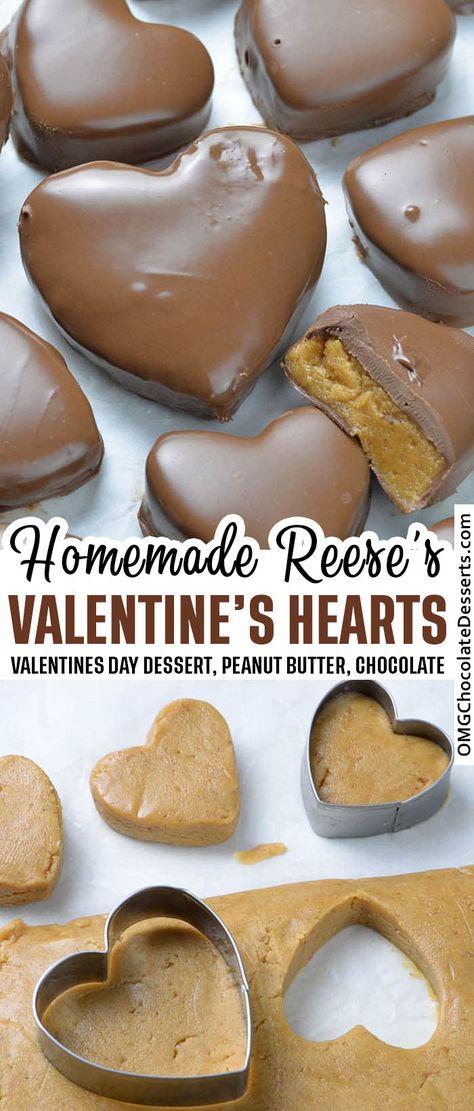 Valentine Desserts, Valentines Food, Holiday Desserts, Holiday Baking, Easy Desserts, Delicious Desserts, Valentines Hearts, East Dessert Recipes, Valentines Recipes