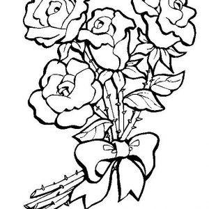 Dibujo Ramo De Rosas Para Colorear Páginas Para Colorear De Flores Dibujos De Flores Páginas Para Colorear Para Imprimir