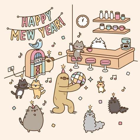 17 2 K Gilla Markeringar 155 Kommentarer Pusheen Pusheen Pa Instagram Happy Newyear Pusheen Cute Pusheen Cat Pusheen