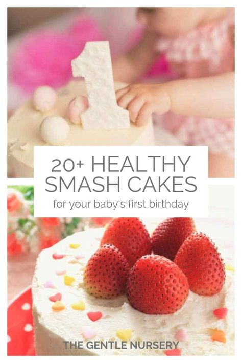 20 healthy smash cake recipes for your baby's first birthday. Want a healthier birthday cake for your baby? Check out these awesome recipes for paleo, organic, gluten-free, dairy-free, allergy-friendly smash cakes for your baby's birthday. Smash Cake Recipes, Smash Recipe, Healthy Cake Recipes, Baby Food Cake Recipe, Healthy Smash Cakes, Homemade Smash Cake, Baby Recipes, Baby First Birthday Cake, Dairy Free Birthday Cake