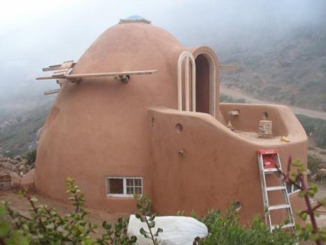 An Earthbag Dome Home