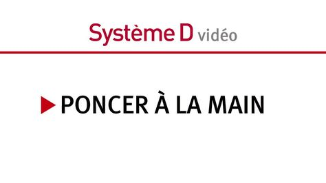 Poncer à la main - http://www.systemed.fr/