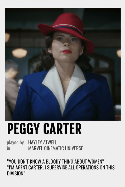 Peggy Carter Polaroid Poster