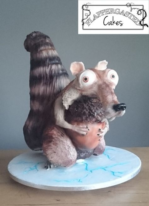 ice age scrat cake in 2020  ice age cake ice age