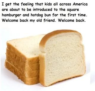 I Get The Feeling That Kids All Across America Are About To Be Introduced To The Square Hamburger And Hotdog Bun For The First Time Welcome Back My Old Friend Food