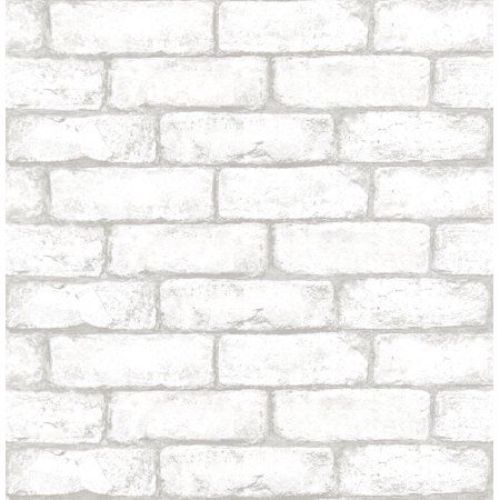 Inhome Cambridge Brick Peel Stick Wallpaper Walmart Com White Brick Wallpaper Brick Pattern Wallpaper Peel And Stick Wallpaper