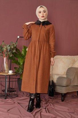 Pelus Polar Kaban Siyah Hijab Tesettur Ozel Tasarim Tesettur Giyim 2020 Giyim Moda Polar