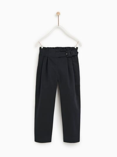 dec7459d Image 1 of DARTED TROUSERS WITH BUCKLE from Zara | dáng mẫu in 2019 ...