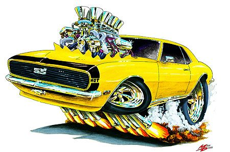 Madd Dogg S Muscle Car Art Coffee Mugs Hotrod Art Pinterest
