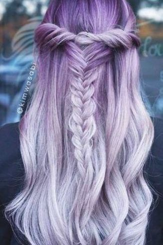 Purple Hair Braiding Ideas To Try Purple Hair Is Now A Huge Trend Among Chic Haircolor Hairtype Men In 2020 Light Purple Hair Hair Color Purple Purple Ombre Hair