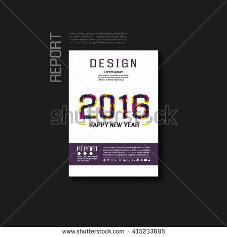 Abstract background vector brochure template Flyer Layout Cover - new year brochure template