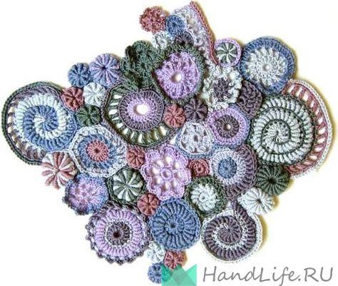 вязание крючком фриформ вязание на заказ Crochet Freeform