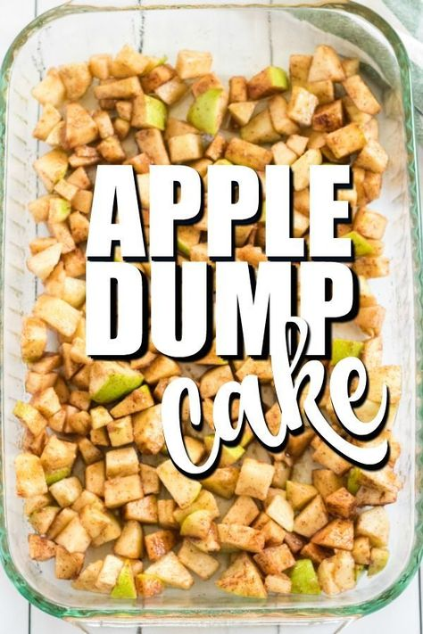 } - This Apple Dump Cake Recipe is an easy dessert using fresh apples or apple pie filling, cake mix an -Apple Dump Cake {Easy & Delicious!} - This Apple Dump Cake Recipe is an easy dessert using fresh a. Apple Dessert Recipes, Dump Cake Recipes, Köstliche Desserts, Autumn Dessert Recipes Easy, Easy Party Recipes, Easy Apple Desserts, Easy To Make Desserts, Homemade Desserts, Frosting Recipes