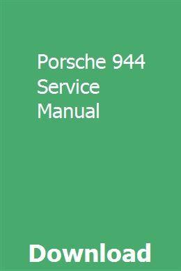 Porsche 944 Service Manual Repair Manuals Manual Fiat Ulysse