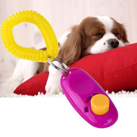 Universal Animal Pet Training Clicker Obedience Aid Wrist Strap