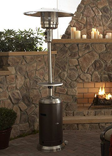 Amazon Com Az Patio Heaters Hlds01 Sshgt Tall Stainless Steel Patio Heater With Table 87 Hammered Bronze Portabl Patio Heater Propane Patio Heater Patio