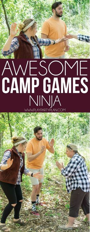 Whether you're looking for summer camp games, camping games for kids, or camp games for adults to play around the campfire - this list has it! It's the ultimate collection of the most fun camping games out there! Indoor Games For Adults, Indoor Group Games, Camping Games For Adults, Games For Teens, Adult Games, Games To Play With Kids, Best Kids Games, Outdoor Team Building Activities For Adults, Ninja Games For Kids