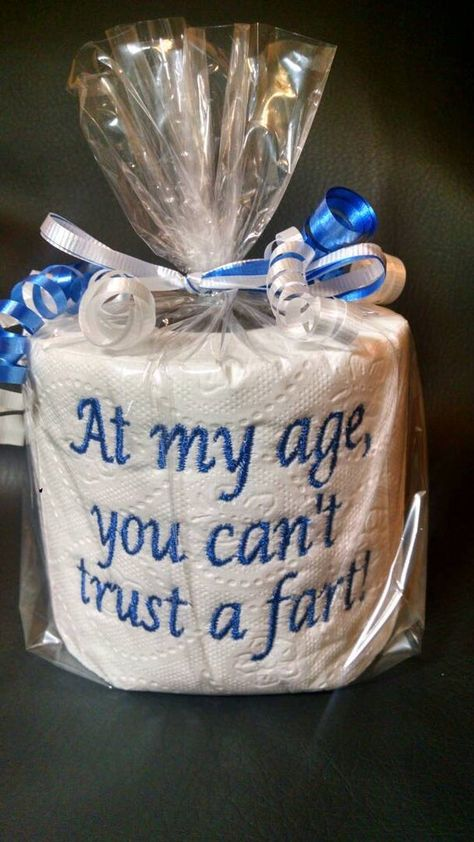 Diy Birthday Gifts Discover embroidered Cant Trust a Fart toilet paper gag gift white elephant gift birthday gift Gag Gifts Christmas, Christmas Humor, Christmas Diy, Santa Gifts, Homemade Birthday Gifts, 50th Birthday Gifts, Diy Birthday Gifts For Friends, 50th Birthday Themes, Beer Birthday Party