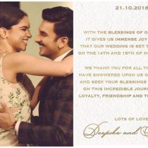 It S Official Deepika Padukone And Ranveer Singh Announce Their Wedding Date In 2020 Deepika Padukone Wedding Looks Wedding Of The Year