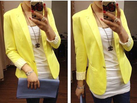 P.S. I Love You More Boutique   Pretty in Yellow Blazer   www.psiloveyoumoreboutique.com - Summer fashion 2014