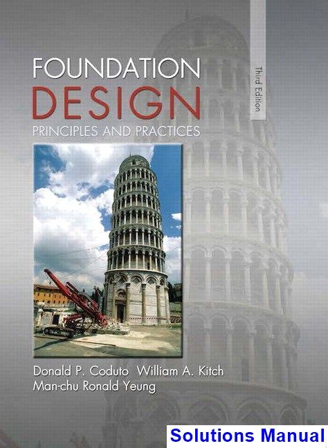 Solutions Manual For Foundation Design Principles And Practices