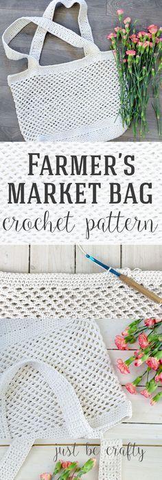 Crochet Farmer's Market Bag Pattern - Free Pattern by