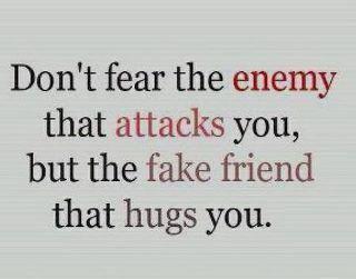enemies vs fake friends