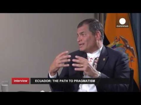 Debt in Latin America, Julian Assange and the Greek crisis Ecuador President Rafael Correa - YouTube