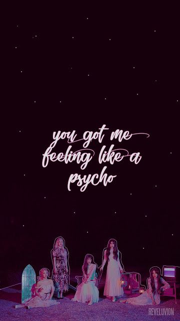 Red Velvet Psycho Lockscreens Wallpapers Screenshots Kpoplocks Velvet Wallpaper Psycho Wallpaper Red Wallpaper