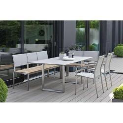 200x100 Ede Edelstahlgartentische Ikea Balkonmobel Kufentisch