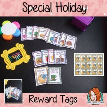 Special Holidays Reward Tags With Images Holiday Specials