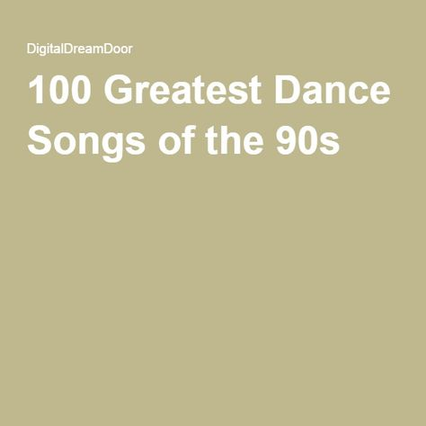 100 Greatest Dance Songs of the 90s | Auction | Good dance