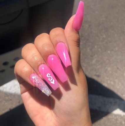 Boyfriend Initial Gelnaildesignsforsummer Short Acrylic Nails Designs Square Acrylic Nails Short Acrylic Nails