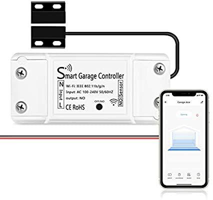 Amazon Com Agshome Smart Wi Fi Garage Door Opener Remote App Control Compatible With Alexa Google In 2020 Garage Door Opener Remote App Control Garage Door Opener