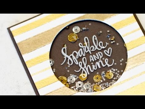 Great tips on making shaker cards  little details make a cute card  using fun foam instead of foam adhesive  great idea