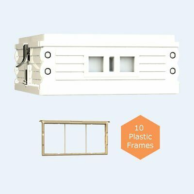 Sponsored Ebay Apimaye Ergo White Medium Super With 10 Plastic Frames Bee Hive Plans Hives