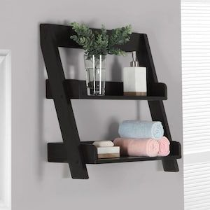 24 In Wall Mount Shelf In Cappuccino Nebraska Furniture Mart Wall Mounted Shelves Bathroom Wall Shelves Wall Mounted Shelving Unit