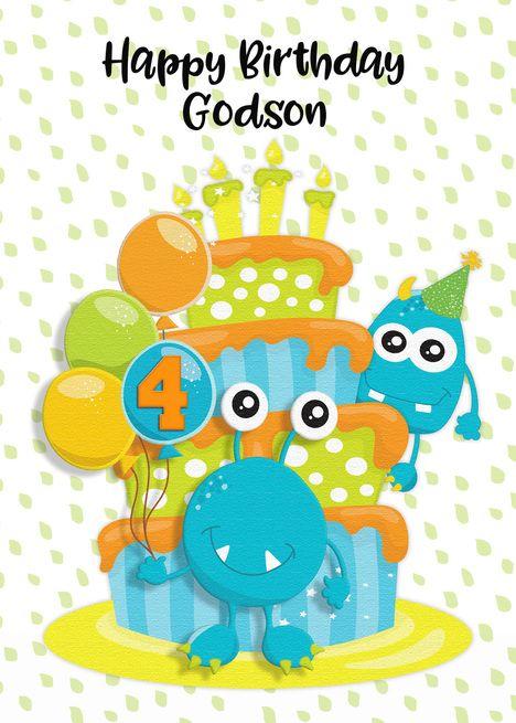 Happy 4th Birthday Nephew : happy, birthday, nephew, Happy, Birthday, Godson, Monsters, #spon,, #Godson,, #Birthday,, Grandson,, Nephew,