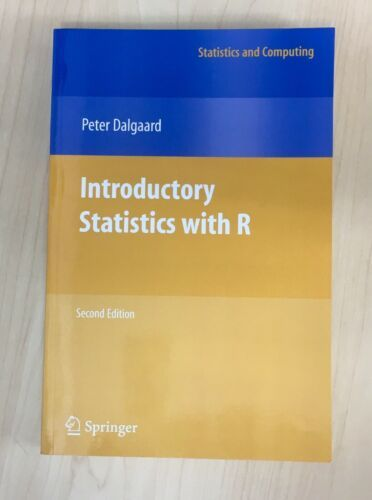 Statistics And Computing Introductory Statistics With R By Peter Dalgaard 9780387790534 Ebay Data Analyst Basic Concepts Regression Analysis