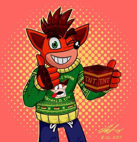 Crash Bandicoot Christmas.Pinterest Pinterest