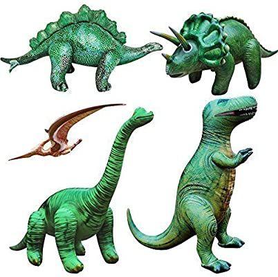 Jet Creations Triceratops Tyrannosaurus Brachiosaurus Inflatable Dino Party Toy