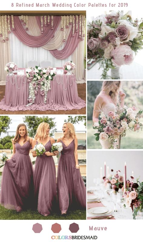 8 Refined March Wedding Color Palettes for 2019 - Mauve