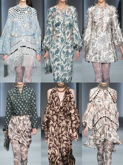 Zimmermann_Fall_201: Reworked Wallpaper Prints – Indian Inspired Pattern – Exotic Motifs & Scenes – Stylised Woodblocks – Historic Archive Prints