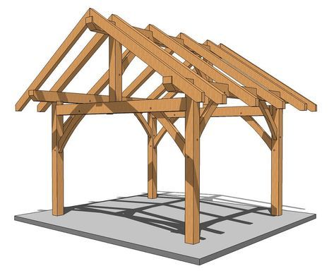 14x14 Post And Beam Plan In 2020 Outdoor Pergola Post Beam Pergola Designs