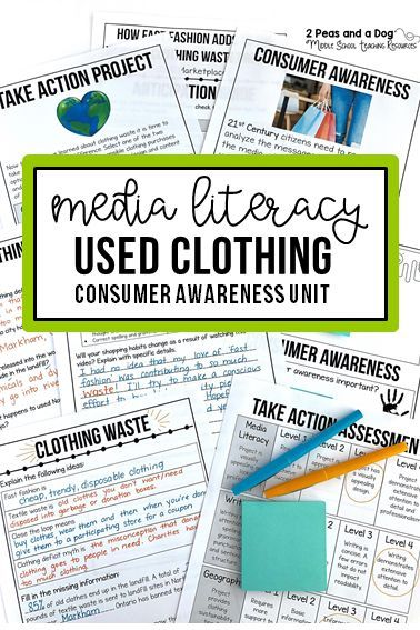 Media Literacy And Consumer Awareness Lesson On Clothing Waste Help Your Students Gain A Media Literacy Lessons Media Literacy Middle School Geography Lessons