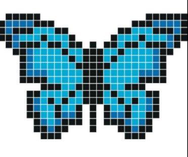 Papillon Bleu Butterfly Blue Pixel Drawing Pixel Art Minecraft Pixel Art