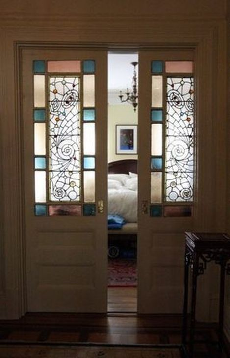 99 Comfy Stained Glass Window Design Ideas For Home 99bestdecor Glass Pocket Doors Glass Doors Interior Stained Glass Door