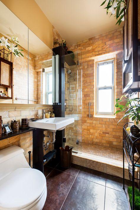 Mediterranean Bathroom By Myhome Design Remodeling Bathroom