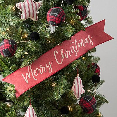 Merry Christmas Paper Banner Colorful Christmas Decorations Christmas Tree Decorations Merry Christmas Decoration